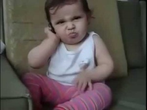 Adorable Baby Talking at Phone. You Can't Ignore This And Watch!